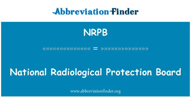 NRPB: Consejo Nacional de protección radiológica