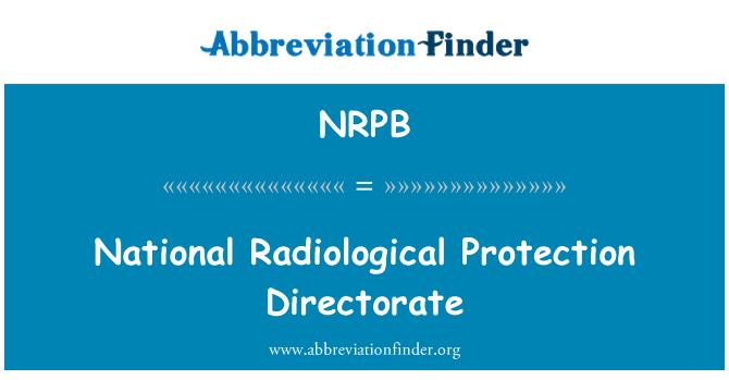 NRPB: Dirección Nacional de protección radiológica