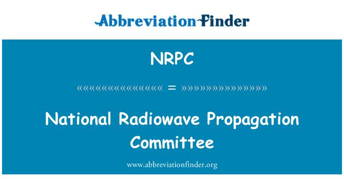 NRPC: Comité de propagación de las ondas radioeléctricas nacional