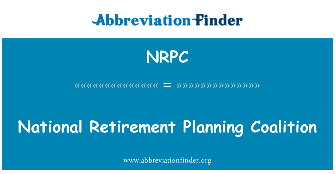 NRPC: Coalición de planificación de jubilación nacional