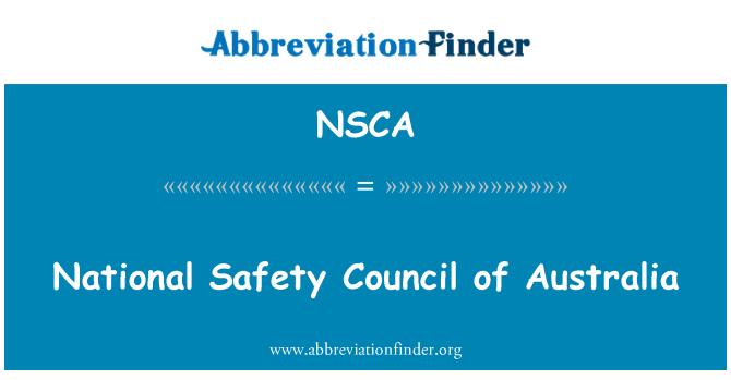 NSCA: Nasjonal sikkerhet råd Australia