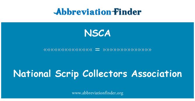NSCA: Skrip negara pengumpul Persatuan