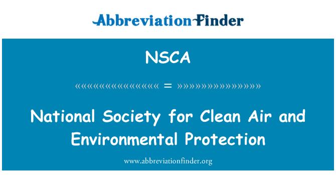 NSCA: 清洁的空气和环境保护协会