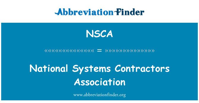 NSCA: Nationale systemer Contractors Association