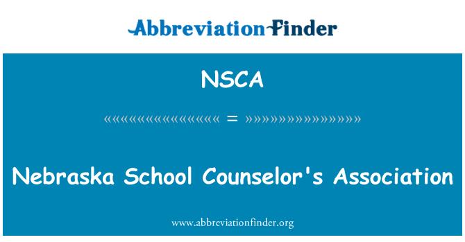 NSCA: Nebraska kooli Lohutaja 's Association