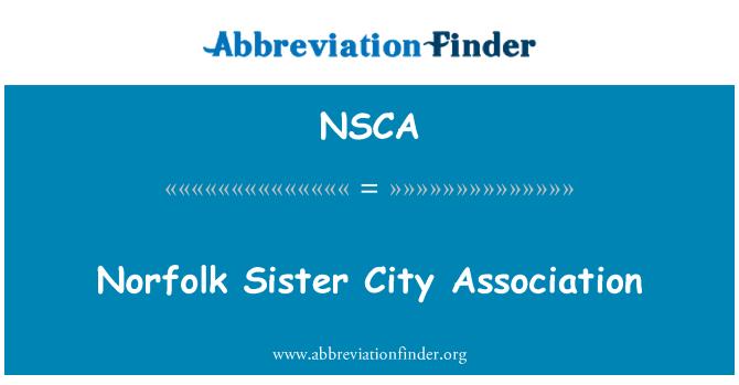 NSCA: Persatuan Norfolk jalinan bandar |