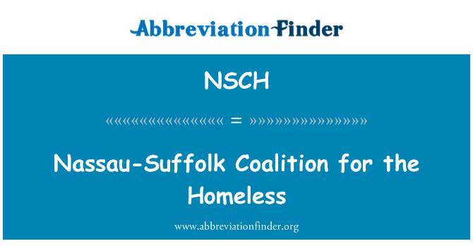 NSCH: Nassau-Suffolk Coalition for the Homeless