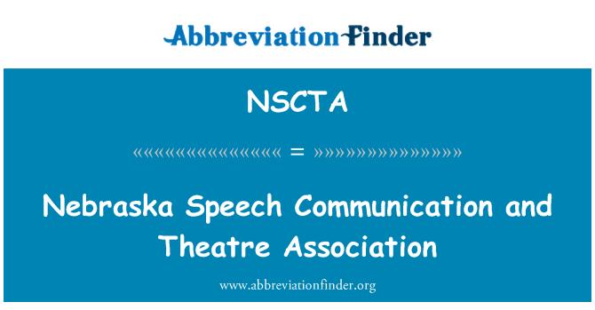 NSCTA: Nebraska Speech Communication and Theatre Association