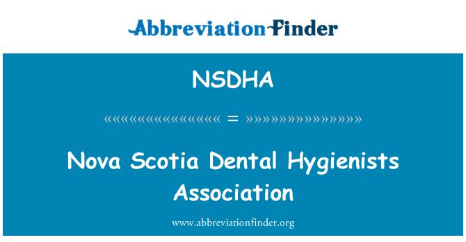 NSDHA: Nova Scotia Dental Hygienists Association