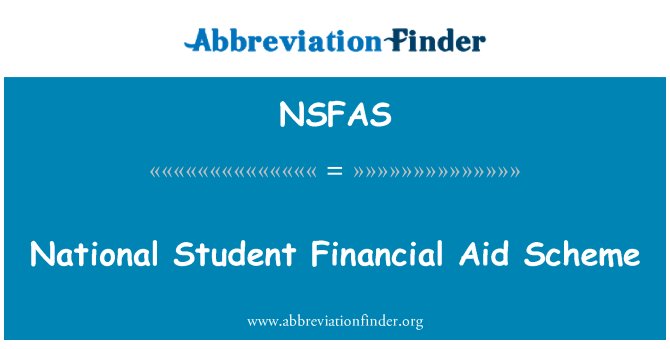NSFAS: قومی طالب علم فنانشل ایڈ سکیم کے تحت