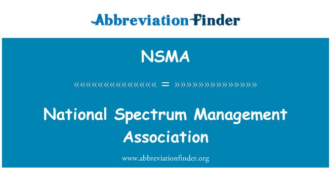 NSMA: Ulusal spektrum Yönetimi Derneği