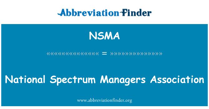 NSMA: Ulusal spektrum Yöneticileri Derneği