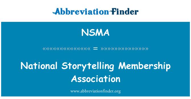 NSMA: Ulusal hikaye anlatımı üyelik Derneği
