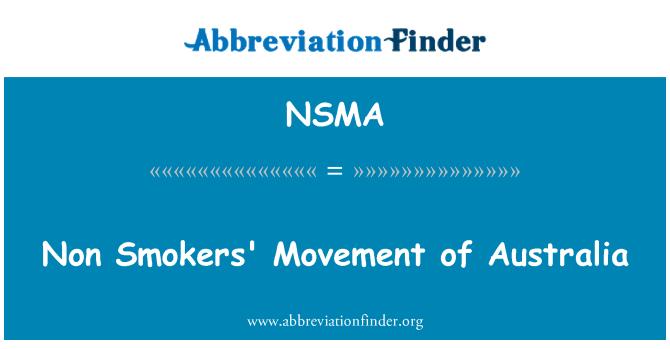NSMA: Sigara içenler hareketi, Avustralya