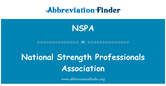 NSPA: National Strength Professionals Association