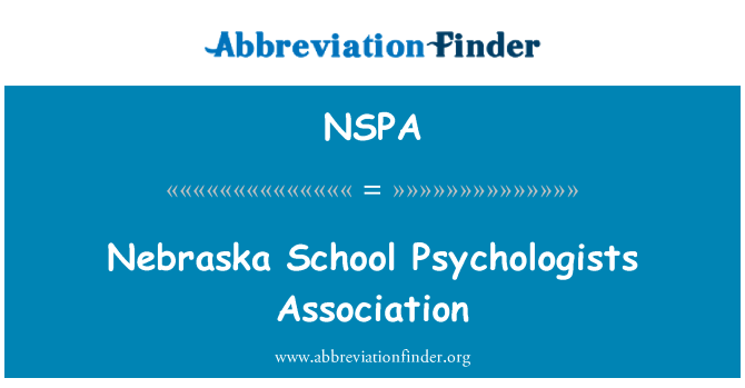 NSPA: Nebraska School Psychologists Association