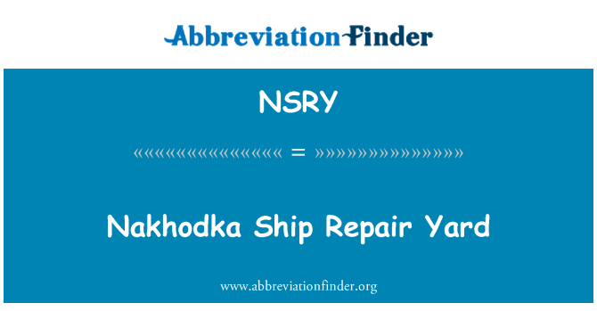 NSRY: Nakhodka Ship Repair Yard