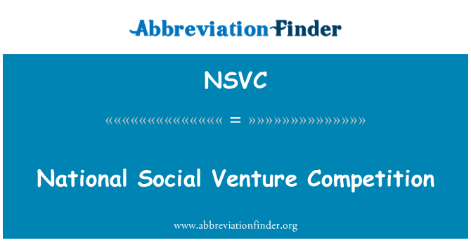 NSVC: National Social Venture Competition