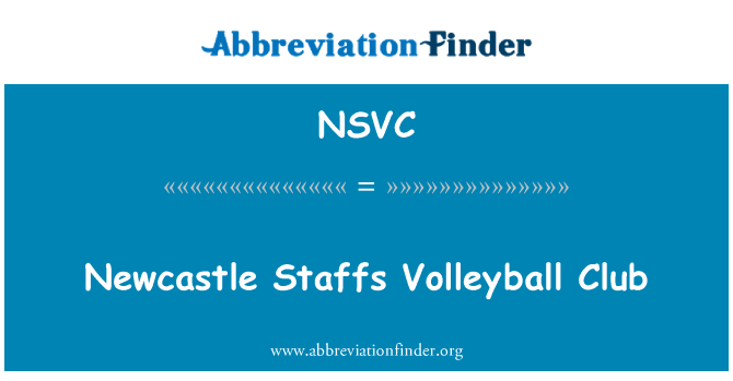 NSVC: Newcastle Staffs Volleyball Club