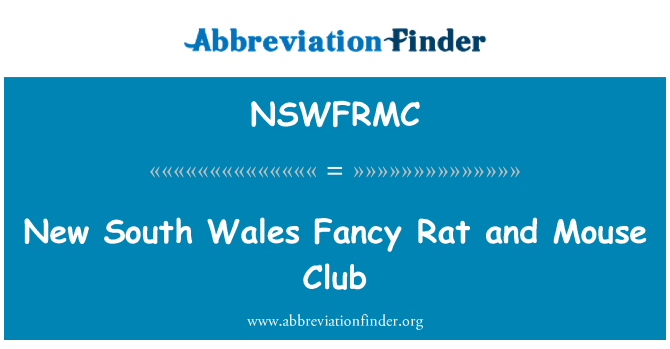 NSWFRMC: New South Wales Fancy Rat and Mouse Club