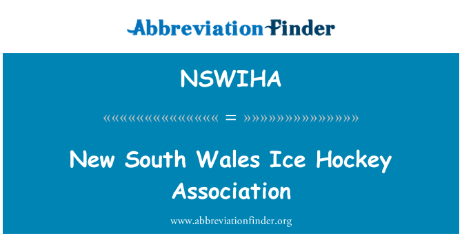 NSWIHA: New South Wales Ice Hockey Association