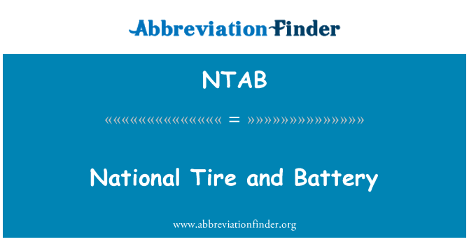 NTAB: National Tire and Battery