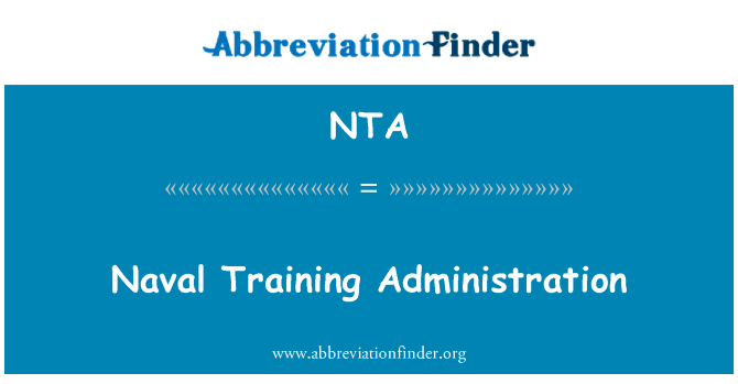 NTA: Naval Training Administration