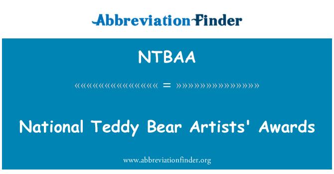 NTBAA: National Teddy Bear Artists' Awards