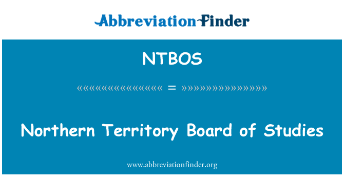 NTBOS: Northern Territory Board of Studies