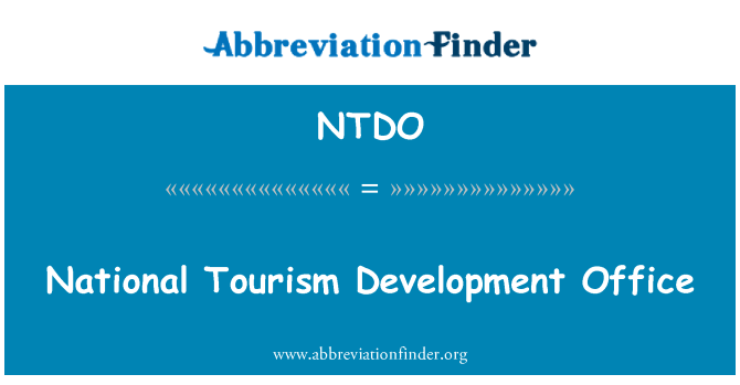 NTDO: National Tourism Development Office