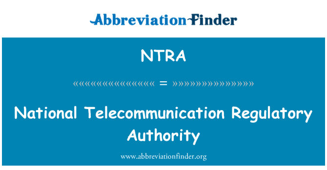 NTRA: National Telecommunication Regulatory Authority