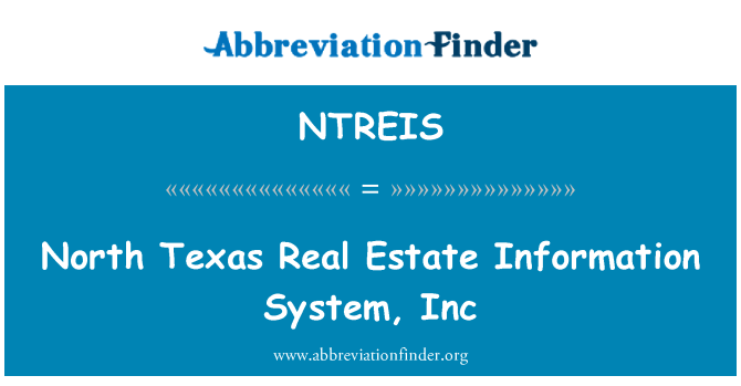 NTREIS: North Texas kinnisvara info System, Inc