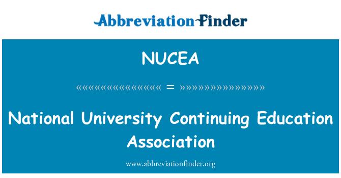 NUCEA: National University Continuing Education Association