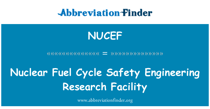 NUCEF: Nuclear Fuel Cycle Safety Engineering Research Facility