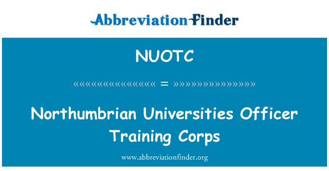 NUOTC: Northumbrian Universities Officer Training Corps