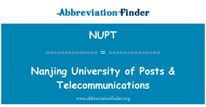 NUPT: Nanjing University of Posts & Telecommunications