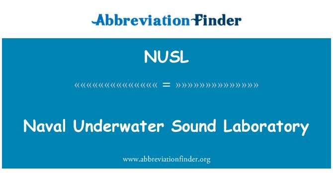 NUSL: بحری پانی کے اندر آواز لیبارٹری