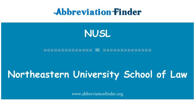 NUSL: Timur Laut University sekolah undang-undang