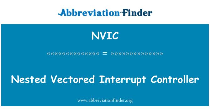 NVIC: Vektörlü kesme denetleyicisi iç içe