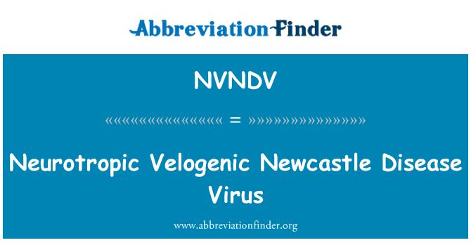 NVNDV: Neurotropic Velogenic Newcastle Disease Virus