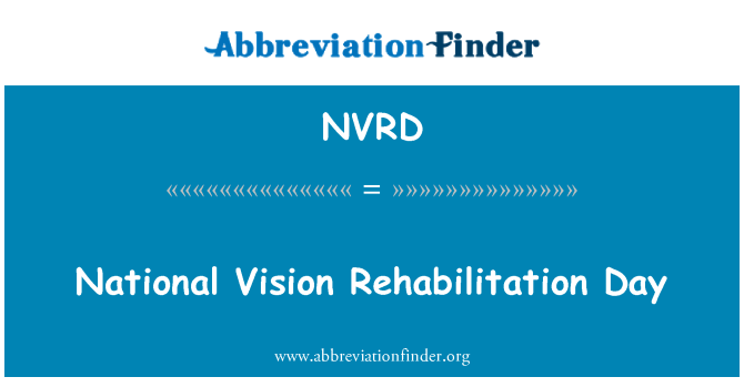 NVRD: National Vision Rehabilitation Day