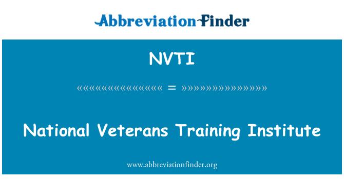 NVTI: National Veterans Training Institute