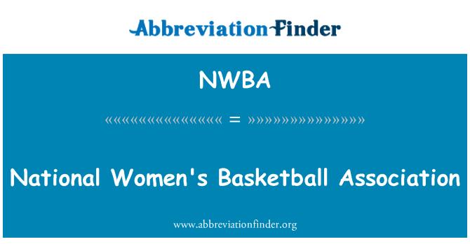 NWBA: National Women's Basketball Association
