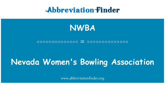 NWBA: Nevada Women's Bowling Association