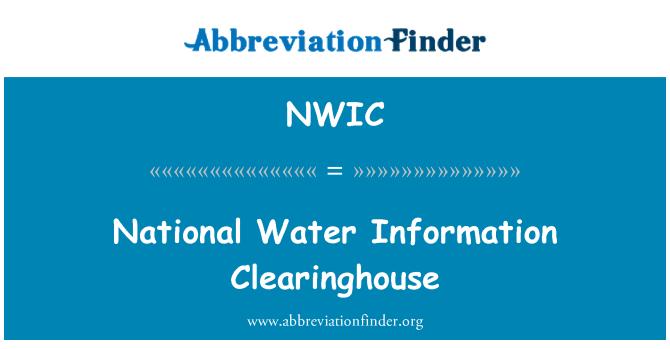 NWIC: Ulusal su bilgi Clearinghouse