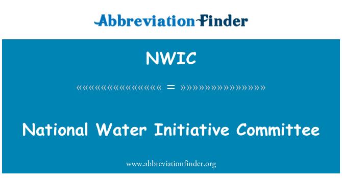 NWIC: Ulusal su girişim Komitesi