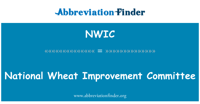 NWIC: Ulusal buğday geliştirme Komitesi