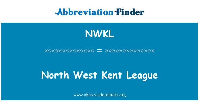 NWKL: North West Kent League
