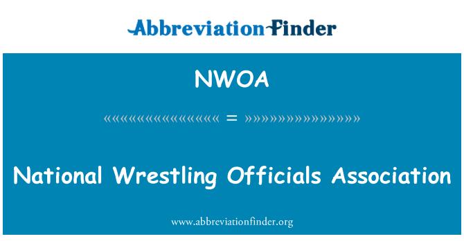 NWOA: National Wrestling Officials Association