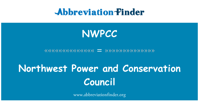 NWPCC: Northwest Power and Conservation Council